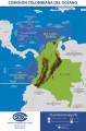 Imagen de apoyo de  Mapa esquemático de Colombia