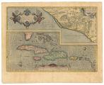 Imagen de apoyo de  Culiacanae, Americae regionis, descriptio; Hispaniolae, Cubae, aliarumque insularum circumiacientium, delineatio